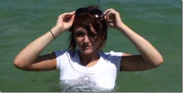 Big tits babe fucked on the beach